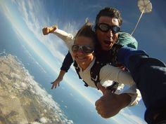 Learn to skydive at South Africa's most scenic dropzone! Skydive Mossel Bay offers both AFF (Acclerated Freefall) & Static Line skydiving courses. Static Line, Paragliding, Skydiving, Tandem, South Africa, Activities, Google Search, Tandem Bikes