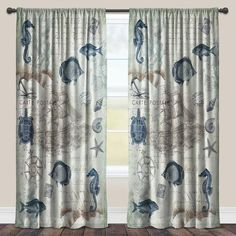 Shop for Laural Home Vintage Seaside Maritime Sheer Window Curtain (Single Panel). Get free delivery On EVERYTHING* Overstock - Your Online Home Decor Outlet Store! Get in rewards with Club O! Window Sheers, Sheer Curtain Panels, Rod Pocket Curtains, Window Panels, Sheer Curtains, Panel Curtains, Beachy Curtains, Nautical Curtains, Nautical Bedroom