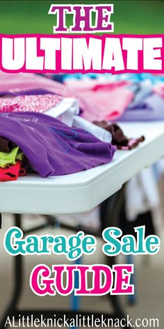A Guide to a Successful Spring Cleaning Garage Sale - A Little Knick a Little Knack - Turn your spring cleaning into extra money with these garage sale tips! Garage Sale Organization, Garage Sale Tips, Diy Garage, Clean Garage, Ultimate Garage, Garage Design, Craft Business, Shopping Hacks, Make Money From Home