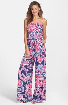 Lilly Pulitzer® 'Farrah' Print Wide Leg Jumpsuit available at #Nordstrom