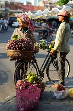 Central Market - Early morning in Phnom Penh, Cambodia