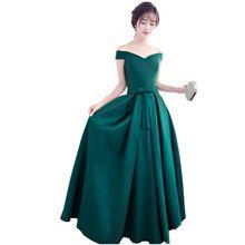 Heißer Verkauf Dark Emerald Green Formale Elegante Lange kleider 2017 Neue Ankunft Abendkleider Satin Kleid Für Frauen A40 //Price: $US $47.99 & FREE Shipping // #cocktailkleider