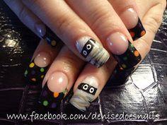 Halloween Polka Dot Nails