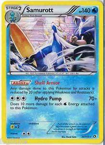 Pokemon Card Legendary Treasures Rare Holo Samurott 39/113 FREE COMB S&H