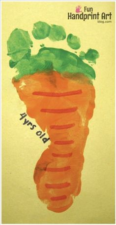 craft | footprint carrot.