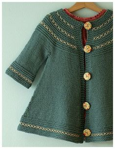 Child's folksy swing coat ... knitting