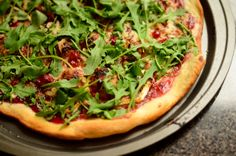 Brie and Cranberry Pizza with Hazelnuts and Arugula
