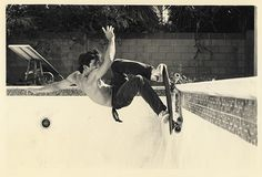 one of my favorite photos - Dave Hackett  at Dolores' Pool by Glen E. Friedman