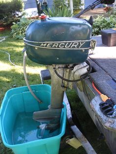 A Little Bit of Good News- The Boat Motor Is Running Again #1949 #Mercury #vintage