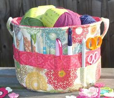 Knitting Project and Supplies Bags  Buckets – Free Sewing...