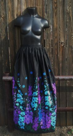 SALE SALE SALE Floral Maxi Skirt S/M by sustainablewearable, $16.99