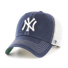 406c629720d New York Yankees 47 Brand Trawler Navy White Clean Up Adjustable Hat