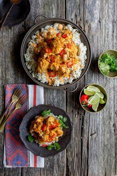 Piri-Piri Cauliflower with Toasted Coconut Rice recipe by @beardandbonnet on http://www.beardandbonnet.com
