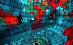 """The Mapparium was conceived by the architect of the Christian Science Publishing House, Chester Lindsay Churchill. Originally called """"the Glass Room,"""" or """"the Globe Room,The Mapparium was three years in the making (1932-1935). It opened to the public May 31, 1935, and cost $35,000. Mary Baker Eddy Library"""