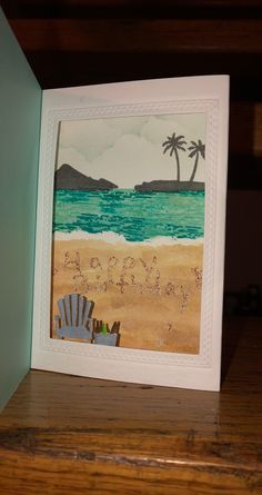 Handmade Greetings, Greeting Cards Handmade, Hero Arts Cards, Sea Theme, Lawn Fawn, Scenery, June, Kit, Frame