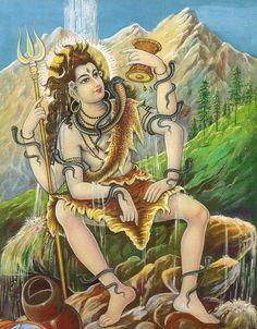 Mahakal Shiva, Shiva Art, Ganesha Art, Hindu Art, Hanuman Pics, Ram Hanuman, Shiva Shankar, Shiva Photos, Lord Shiva Family