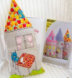 Fabric houses with applique and machine embroidery, Stash Happy Applique (Lark Books) Cynthia Shaffer