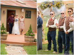 outdoor colorado rustic wedding bride groom montrose