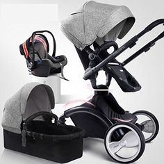 3 in 1(Standard Stroller+Separate Sleeping Basket+Safety ...