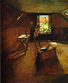 Henri Matisse Famous Paintings | Studio under the Eaves. 1903. Oil on canvas. Fitzwilliam Museum ...