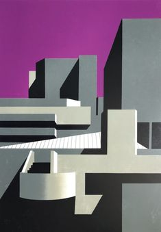 Paul Catherall on growing up in Coventry seeing buildings in colour and big breaks Contemporary Wall Art, Contemporary Artists, Frames On Wall, Framed Wall Art, Architectural Prints, Building Art, Landscape Wallpaper, City Art, Linocut Prints