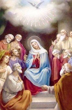 Holy Spirit, Blessed Mother Mary, Blessed Virgin Mary, Catholic Prayers, Catholic Art, Jesus Mary And Joseph, Jesus Christ Images, Spiritual Symbols, Strong Faith