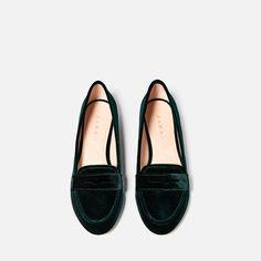 Image 6 of VELVET LOAFERS from Zara
