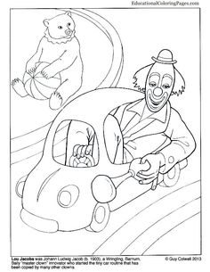 Car Coloring Clown Books Ecppublishing Colouringpages