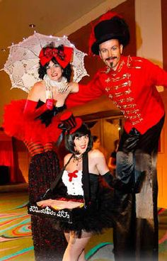 Roving characters, Comedy acts, Circus and Stilt Walkers to go with your school formal theme.