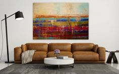 Large 60 by 40 Abstract Painting acrylic by Itisfine