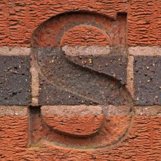The letter S. Grey and orange brick. Alphabet Design, Alphabet Art, Alphabet And Numbers, Lettering Design, Hand Lettering, Abc Letra, Alphabet Photography, Just In Case, Artsy