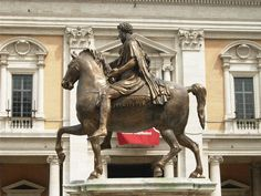 Modern Copy of the Equestrian Statue of Marcus Aurelius