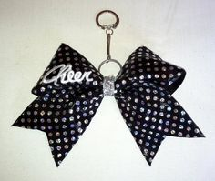 Cheer sequin bow keychain by Cheercuties on Etsy