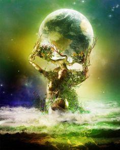 Gaia - (a. Celu, Gaea, Terra, Mother Earth) Greek goddess of the Earth. Fantasy World, Fantasy Art, Dark Fantasy, Pagan Art, Sacred Feminine, Mystique, Gods And Goddesses, Archetypes, Fantasy Characters