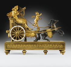 A LARGE PATINATED AND GILT-BRONZE MANTEL CLOCK BY SIMON DEVERBERIE, CONSULAT, CIRCA 1800.
