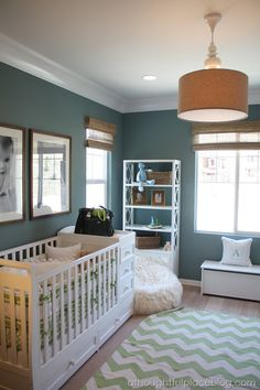 I love this wall color for the boy's basement rooms