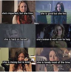 I've never seen this show but from what I've heard I guess this is true Pretty Little Liars Series, Preety Little Liars, Pretty Little Liars Quotes, Pll Quotes, Pll Memes, Shes Broken, Spencer Hastings, Celebration Quotes, Ask For Help
