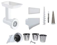 KitchenAid - Attachment Pack for KitchenAid Stand Mixers - White/Stainless-Steel - Angle