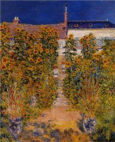 The Artist's Garden at Vetheuil - Claude Monet