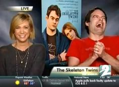 This Reporter's Interview With Kristen Wiig & Bill Hader Got Super Awkward When They Realized He Never Watched Their Movie  Skeleton Twins