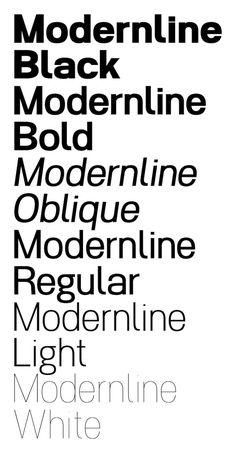 #Typeface -- Modernline
