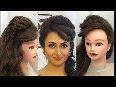 3 Beautiful Hairstyles with puff : Easy Wedding Hairstyles - Watch Video - Wedding Ideas Cool Braid Hairstyles, Braided Hairstyles Tutorials, Bride Hairstyles, Trendy Hairstyles, Beautiful Hairstyles, Hairstyle Short, Hairstyle Ideas, Toddler Hairstyles, Elegant Wedding Hair