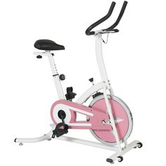 Best Choice Products Pink Exercise Bike Fitness Indoor Cycling Bicycle Cardio Workout W/ LCD Screen. Stylish designed exercise bike specifically fabricated to help you reach new fitness goals through a great workout. Bike contains a resistance wheel that is designed to increase the intensity of your workout. The screen portrays different functions such as: scan, time, speed, distance, calories burned and odometer. Equipped with a height adjustable seat for your convenience. Comes with…