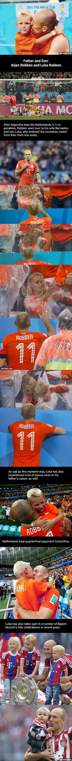 Netherlands lost the World Cup match, but Robben and his son Luka have won the internet!