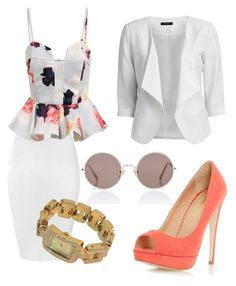 Untitled #195 by carolina-hbgd on Polyvore featuring polyvore fashion style VILA Glamorous Dorothy Perkins Michael Kors Sunday Somewhere clothing