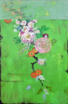 The New Floral Collection: Kathe Fraga Paintings, Inspired by Chateau de Gadunes, Chinoiserie and vintage Parisian Wallpapers – The Art of Kathe Fraga French Wallpaper, Inspiration Art, Chinoiserie, Flower Art, Flower Mural, Contemporary Art, Abstract Art, Art Gallery, Artsy