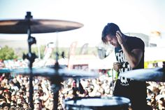 Aaron Melzer of Secrets June 25th, 2014 in San Diego, CA (Hannah Branigan) Vans Warped Tour 2014 Warped Tour, Concert Photography, The Secret, San Diego, June, Tours, Hairstyles, Haircuts, Hairdos