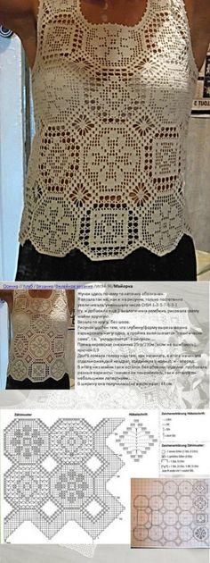 Белая кофточка.Филейное вязание
