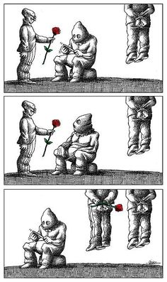 100 Anti-System Caricatures from Exiled Iranian Cartoonist Mana Neyestani – Seray Temür – Join in the world of pin Political Art, Political Cartoons, Satire, Satirical Illustrations, Meaningful Pictures, Dark Drawings, Deep Art, Social Art, Sad Art