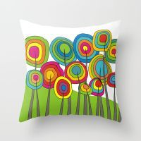 Whimsical And Funky Tree… Throw Pillow